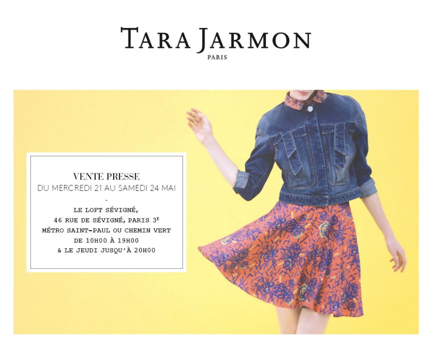 Vente Presse Tara Jarmon du 21 au 24 mai 2014