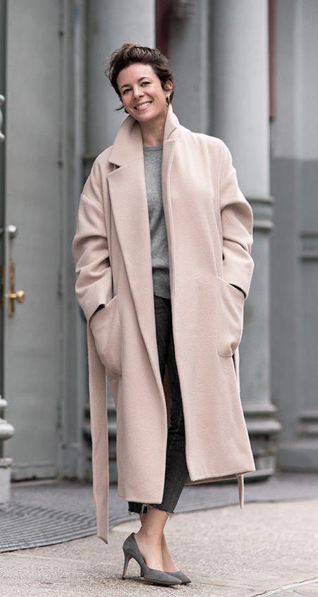 Steet Look Pink Coat Garande DORE
