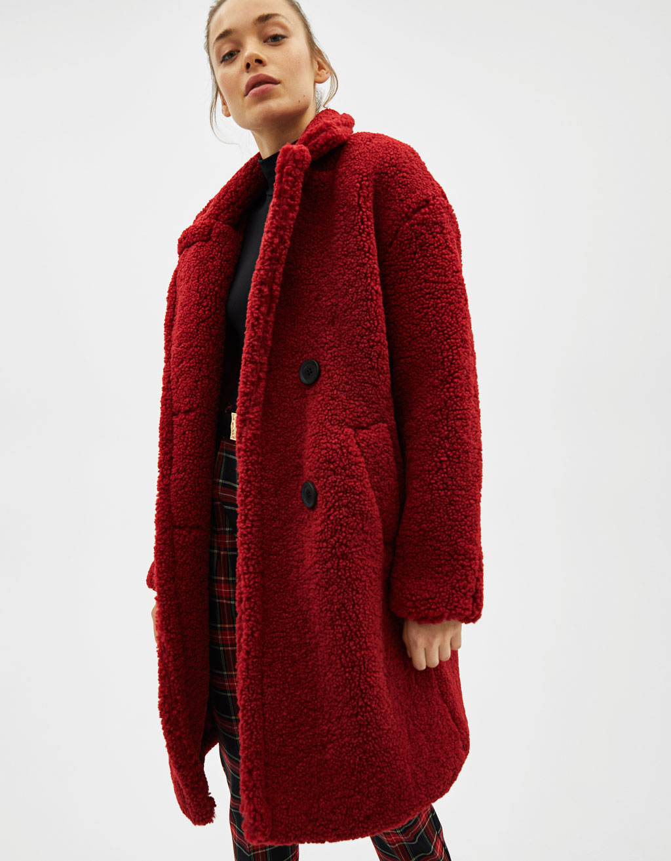 Teddy Coat Bershka 59,99 €