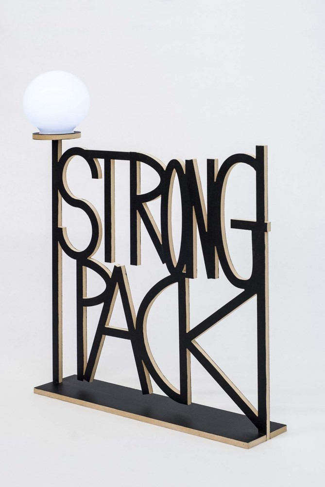 Strong Pack,  Edition of 5,  MED-X, battery powered led light fixture. 6 inch Polycarbonate Globe, 24 x 24 in