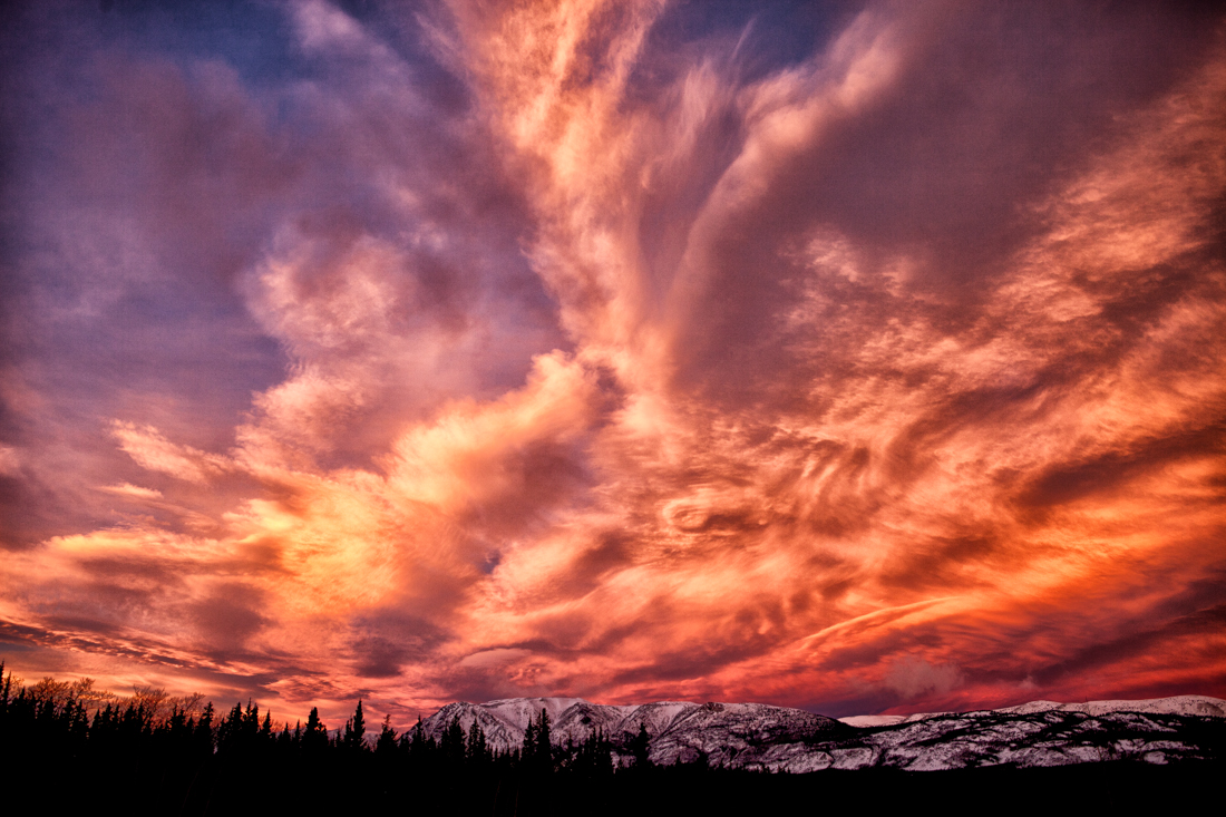 An impressive sunrise colours our backyard. Photo by Christa Galloway.
