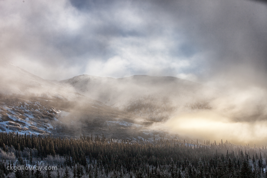 The mountains near Carcross, Yukon. Photo by Christa Galloway.