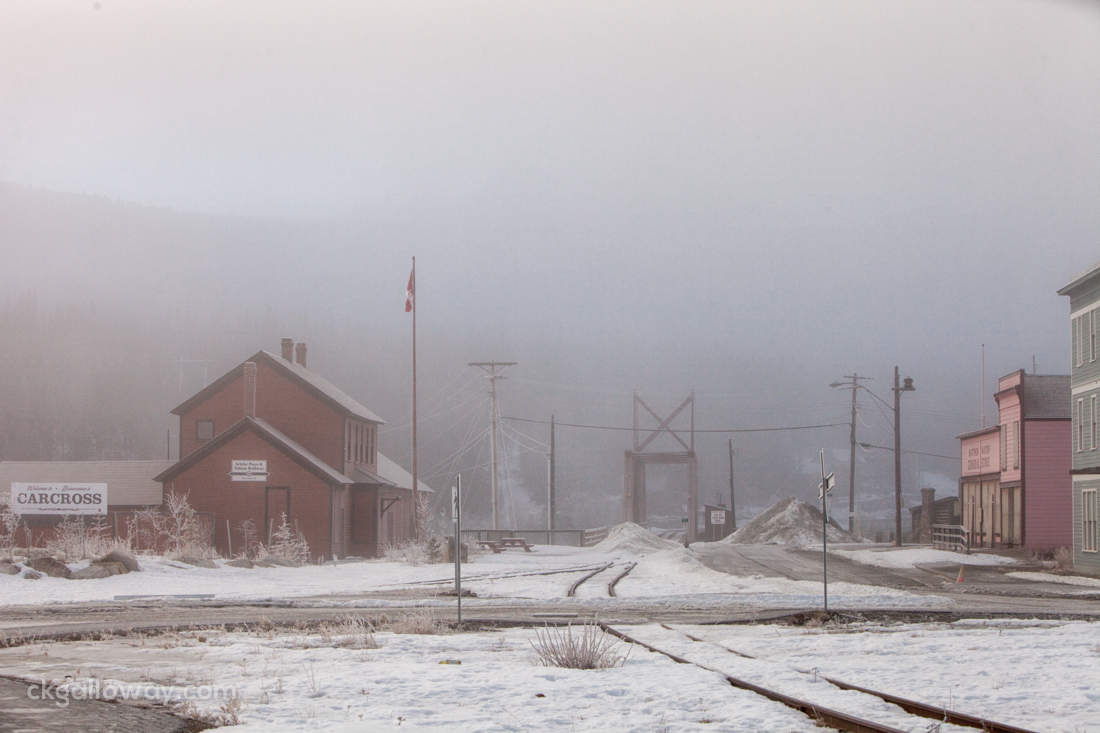 Carcross at the White Pass and Yukon Railway bridge. Photo by Christa Galloway.