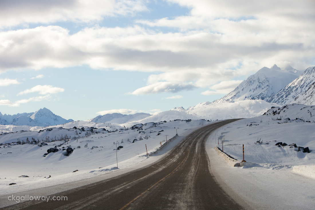 The Klondike highway in British Columbia. Photo by Christa Galloway.