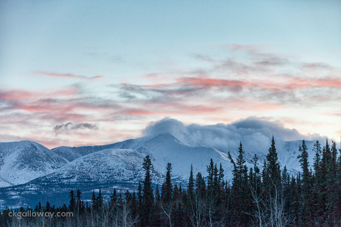 Sunrise over Mount Lorne, Yukon. Photo by Christa Galloway.