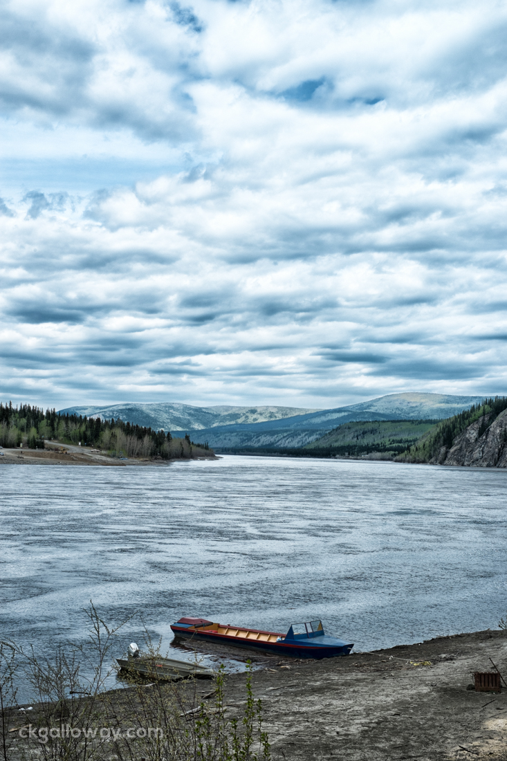 The Yukon River in Dawson City. Photo by Christa Galloway.