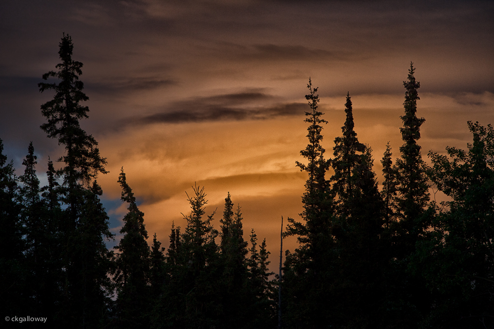 Yukon sunset.  Photo by Christa Galloway.