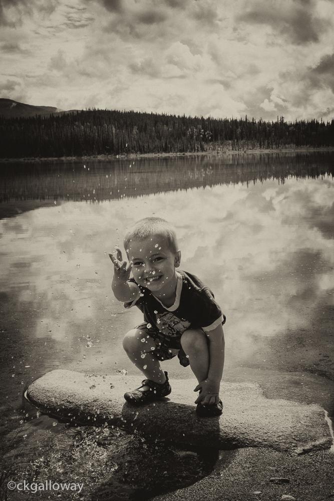 Oscar at Kookatsoon Lake.  Photo by Christa Galloway.