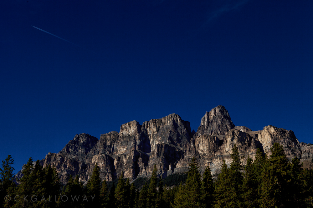Castle Mountain, Banff, AB.  Photo by Christa Galloway.