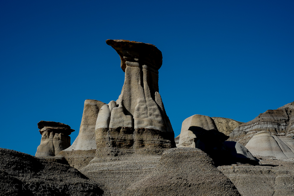 A photo of the hoodoos from our adventures today.  Photo by Christa Galloway.