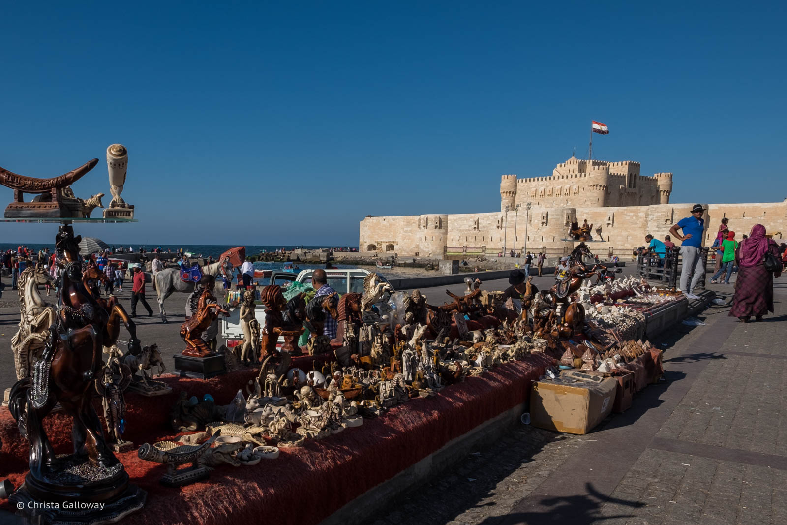 The outside of Qaitbay Citadel (which closes at 4pm)