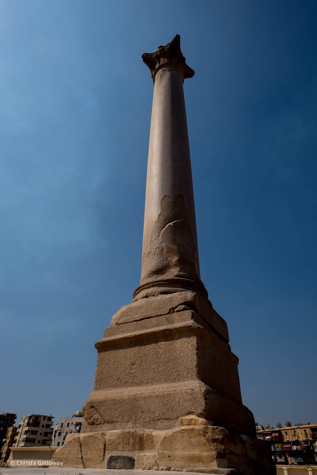 """Pompey's Pillar"" in Alexandria, Egypt."