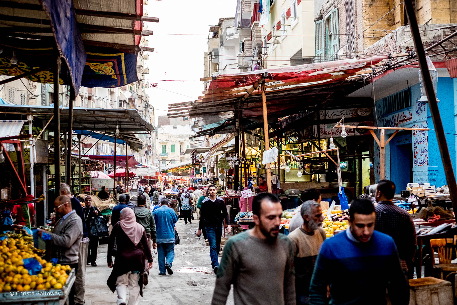 Mansheny market in Alexandria, Egypt.