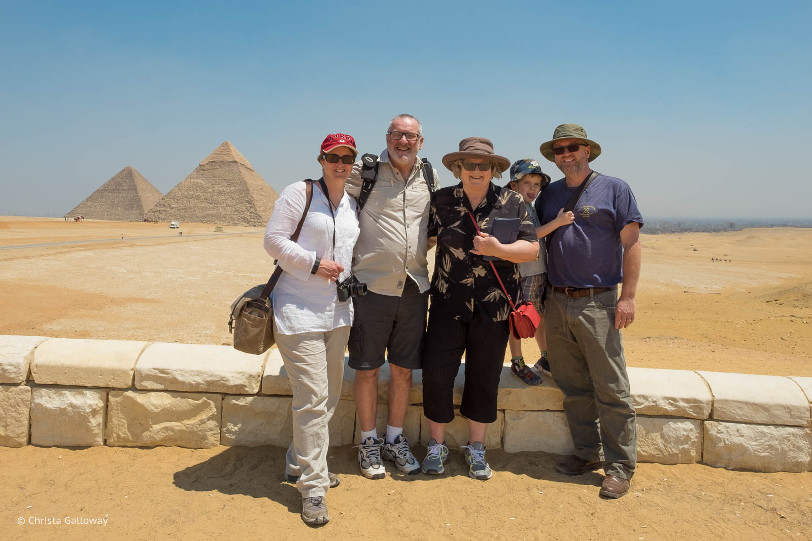 The Gendrons and Galloways at the Great Pyramids of Giza.
