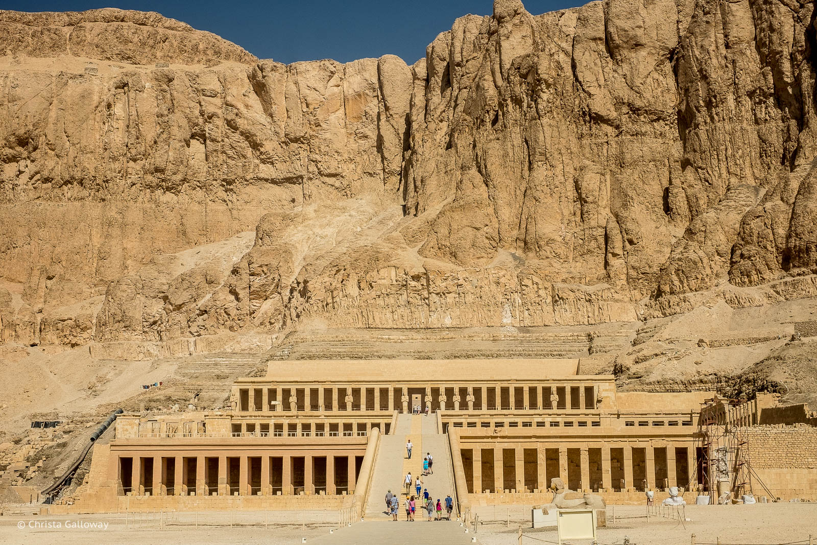The Mortuary Temple of Hatshepsut near the ancient city of Thebes in Egypt.
