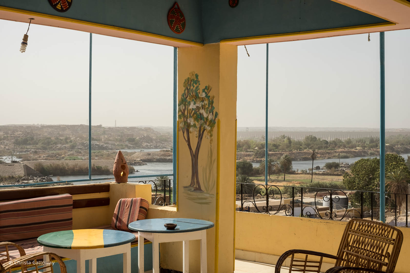 The view from a terrace at  Ekadolli Nubian Guesthouse  in Aswan.