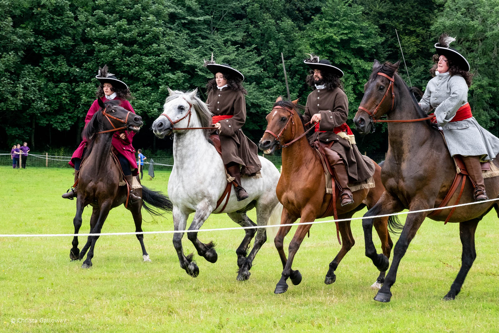 A calvary display at the Soldiers of Killiecrankie Battle Re-enactment.