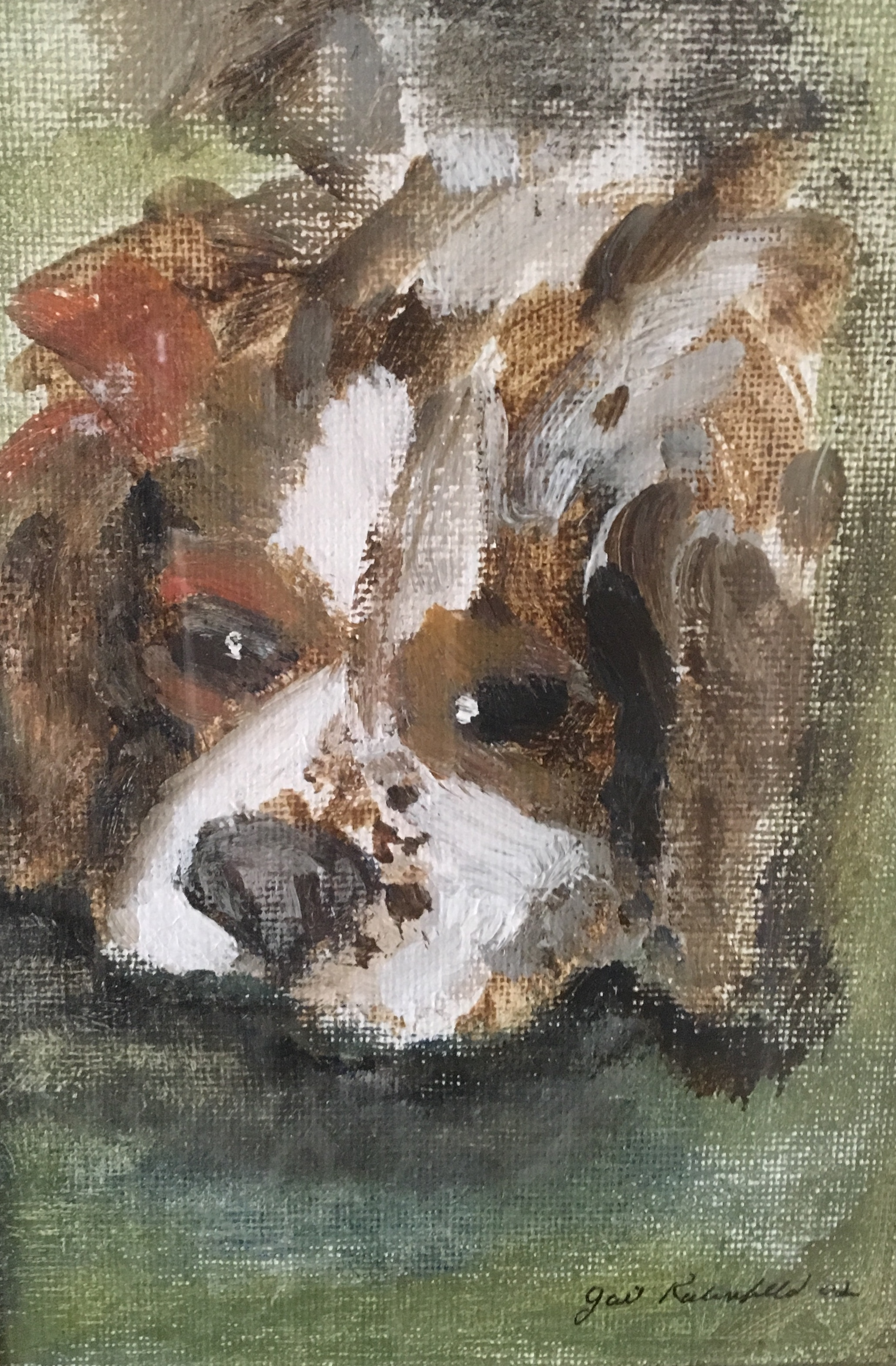 """Bentley. King Charles Spaniel"" 10x8 acrylic"