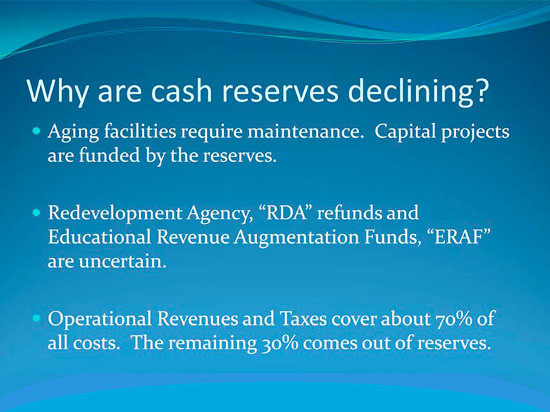 April 16, 2014 Harbor District FY 14/15 budget meeting slide
