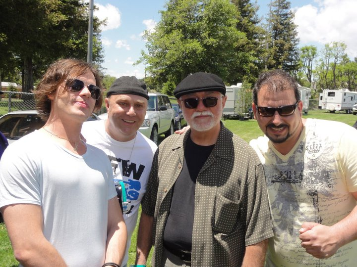 Mikey Junior with John Markowski, Jimmy Pritchard & Matt Daniels 2011 Simi Blues Festival.jpg