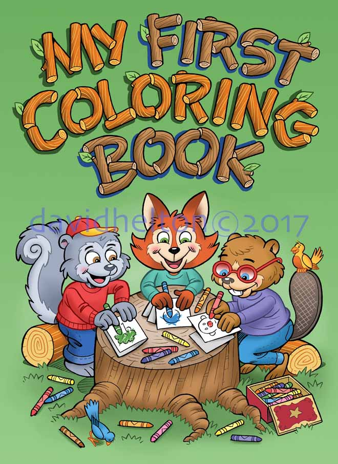 My First Coloring Book cover art