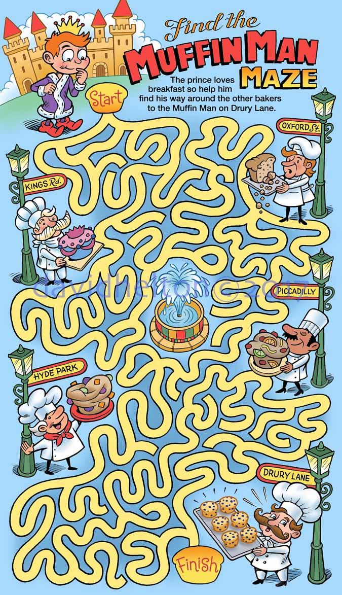 """""""Find the Muffin Man"""" maze"""