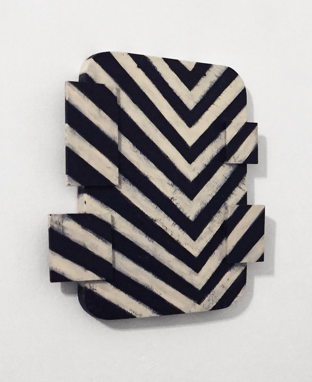 "Untitled (no. 601), 2015, wood, paint, nails, 12 x 2 x 15"""