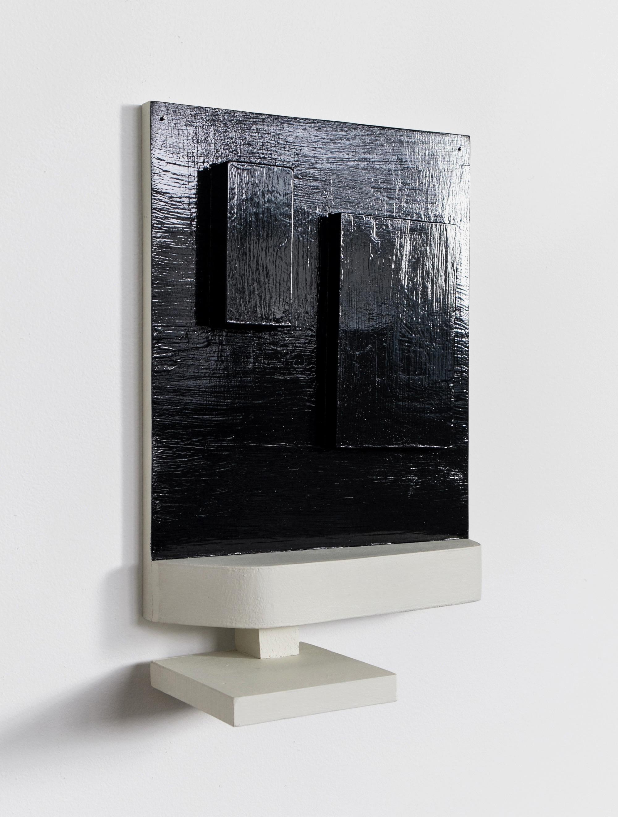 "Untitled, 2013, wood, paint, nails, 12 ¾ x 4 x 11 ¾"""
