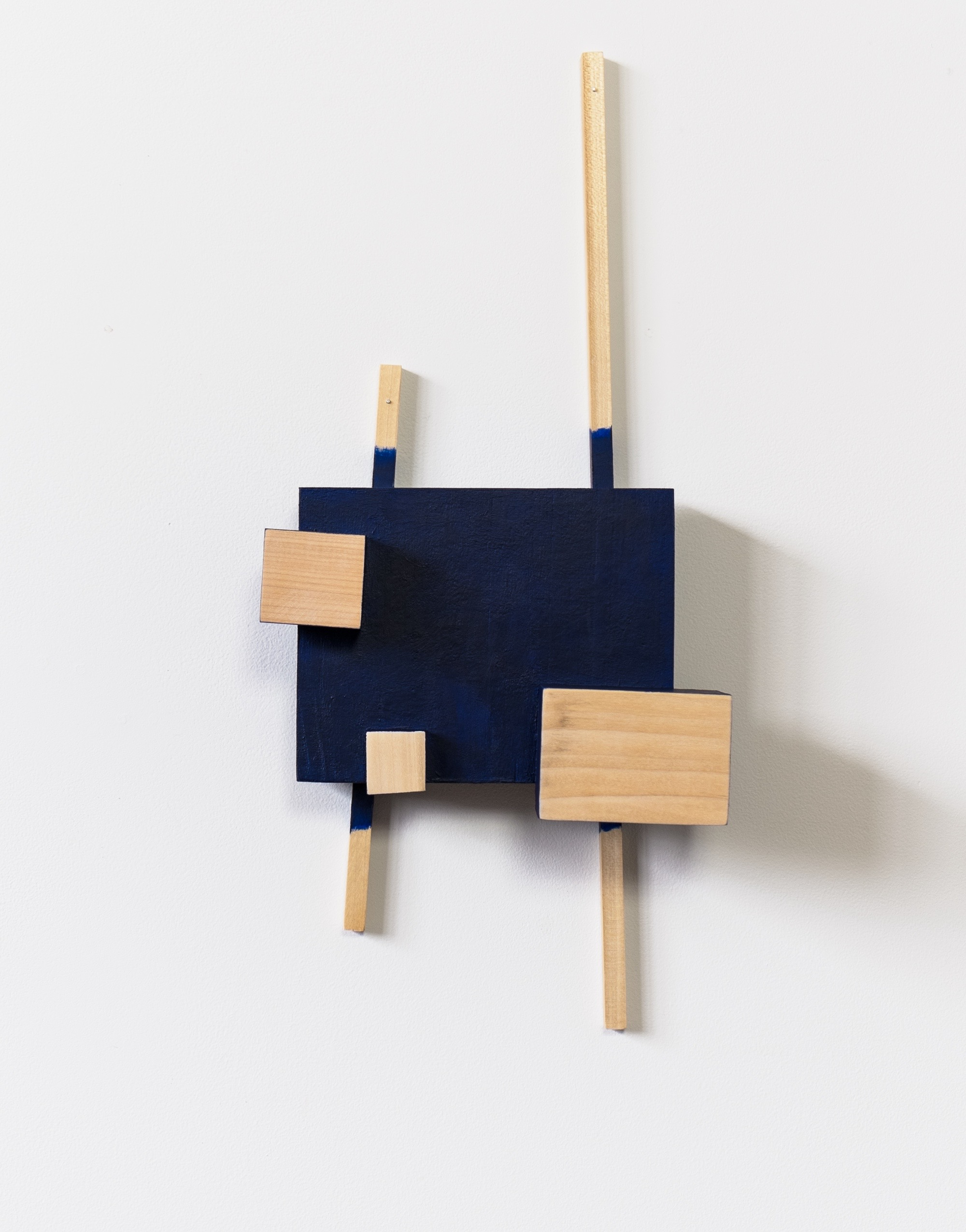 "Untitled, 2013, wood, paint, nails,  9 x 4 ¼ x 20"""