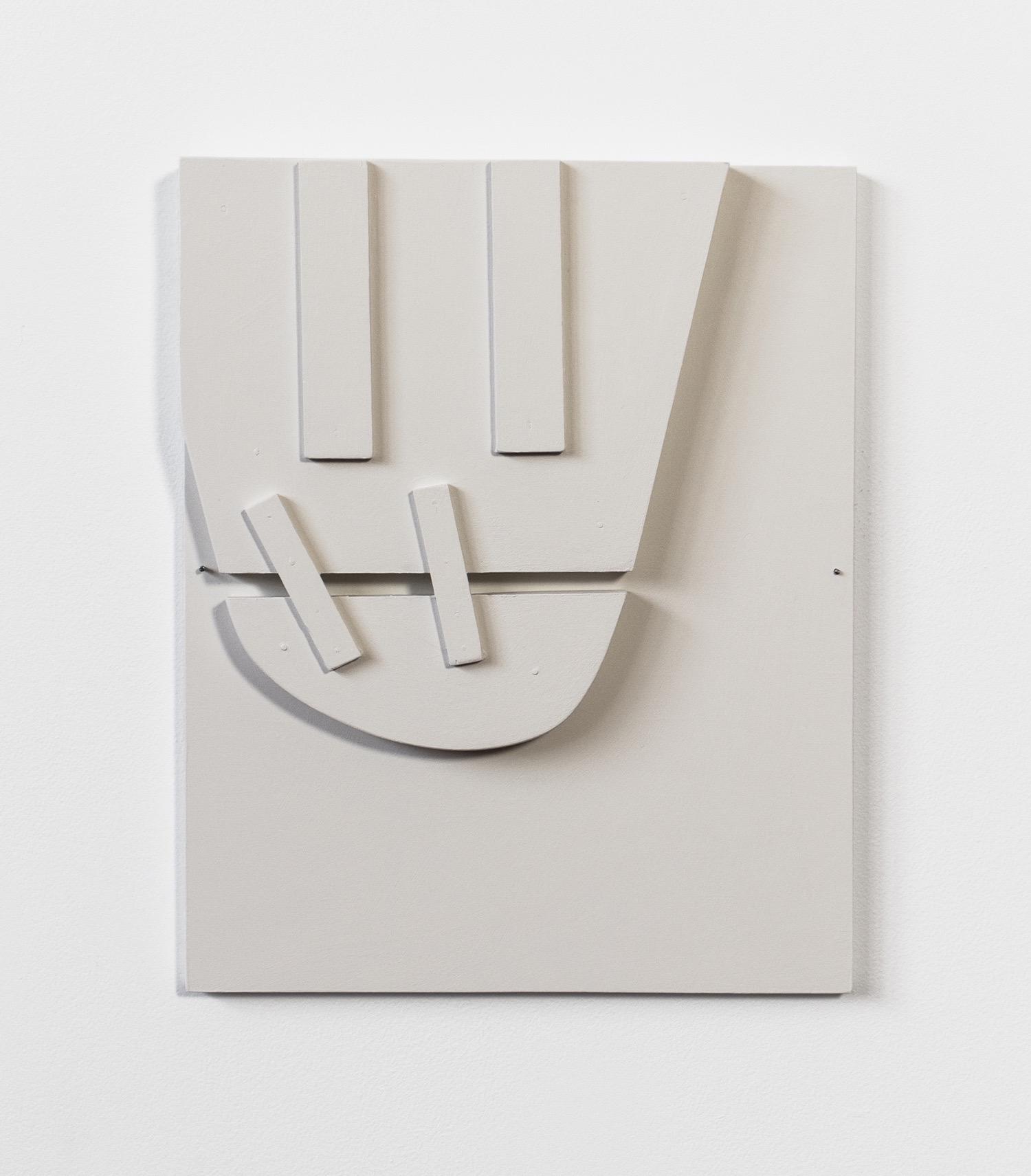 "Untitled, 2013, wood, paint, nails,  11 x 1 ½ x 14"""