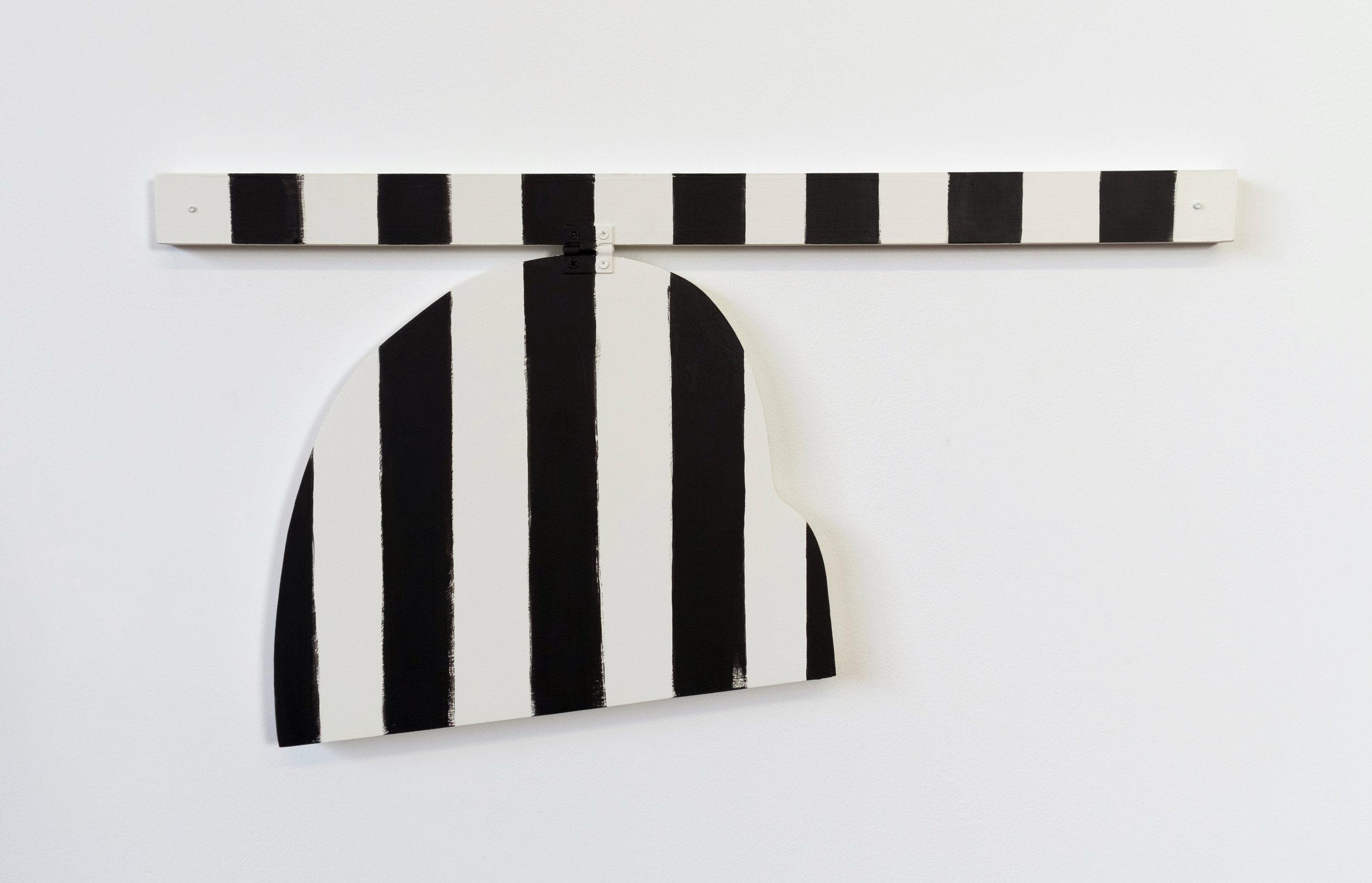 "Untitled, 2013, wood, paint, hinge, screws,  22 ¾ x 1 x 11 ½"""