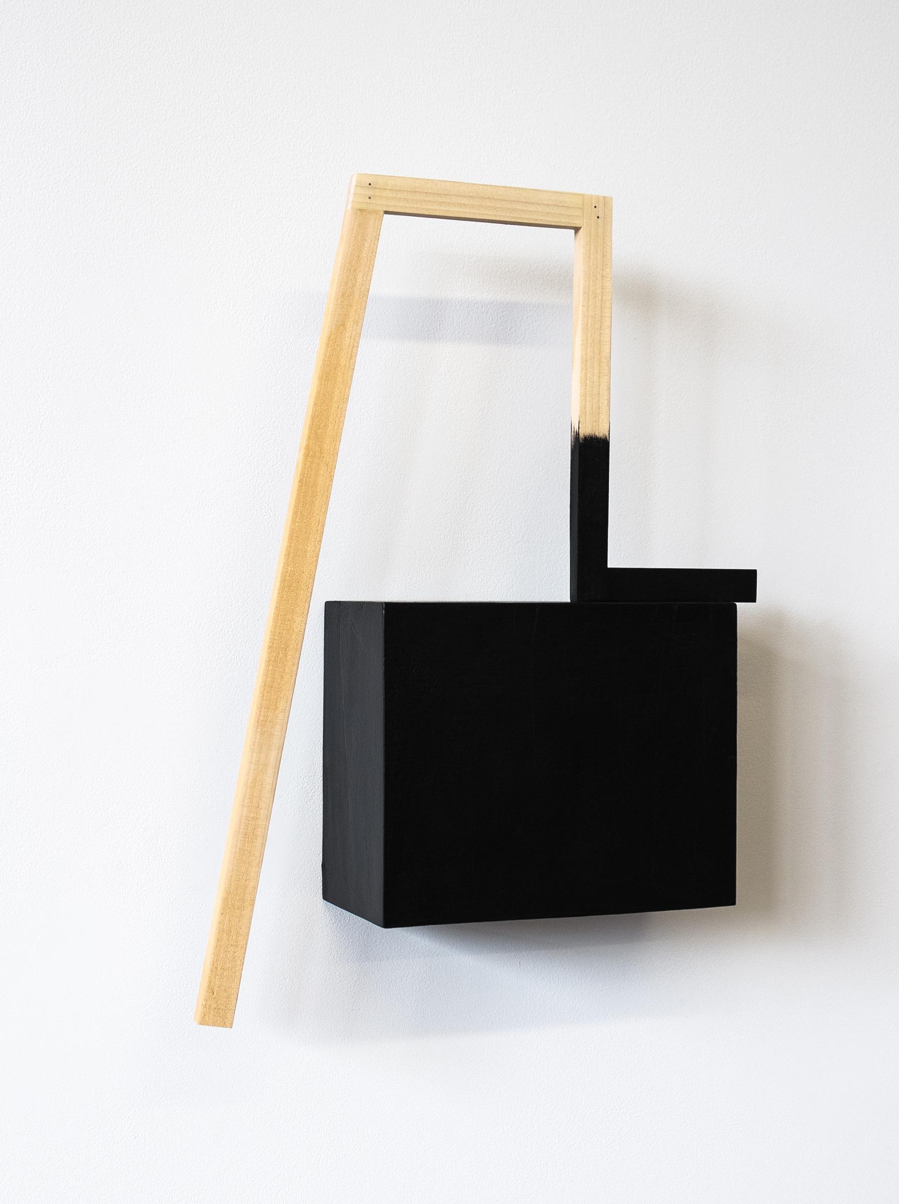 "Untitled, 2013, wood, paint, nails, 12-3/4 x 3 x 20"""