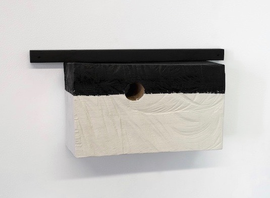 "Untitled, 2014, wood, paint, screws, nails, 12 ½ x 3 ¾ x 6 ¼"""