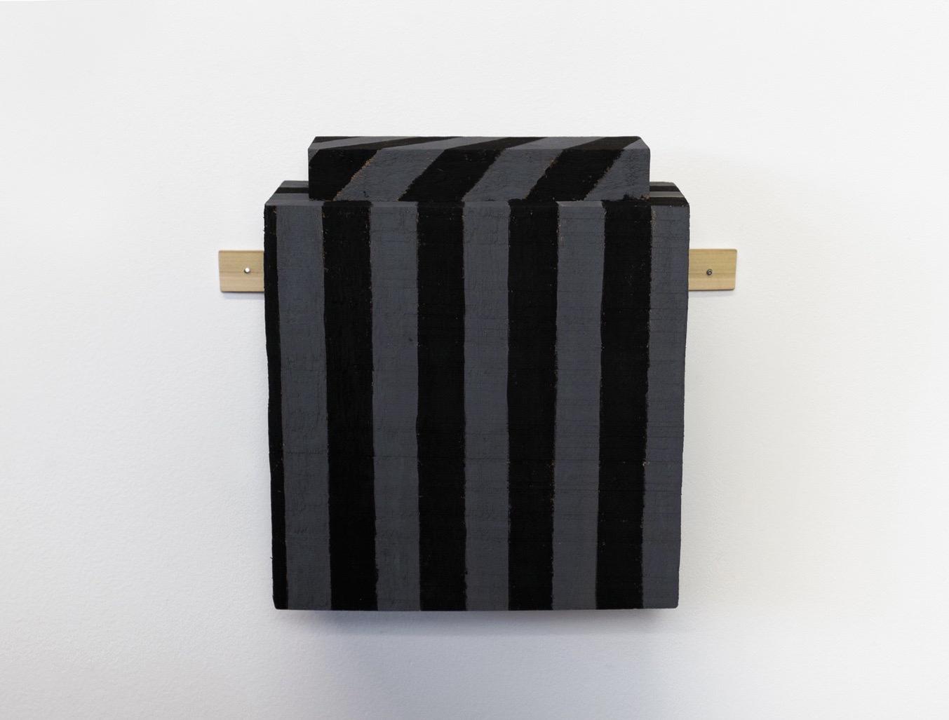 "Untitled, 2014, wood, paint, nails, 10 x 3 ¼ x 8 ¼"""