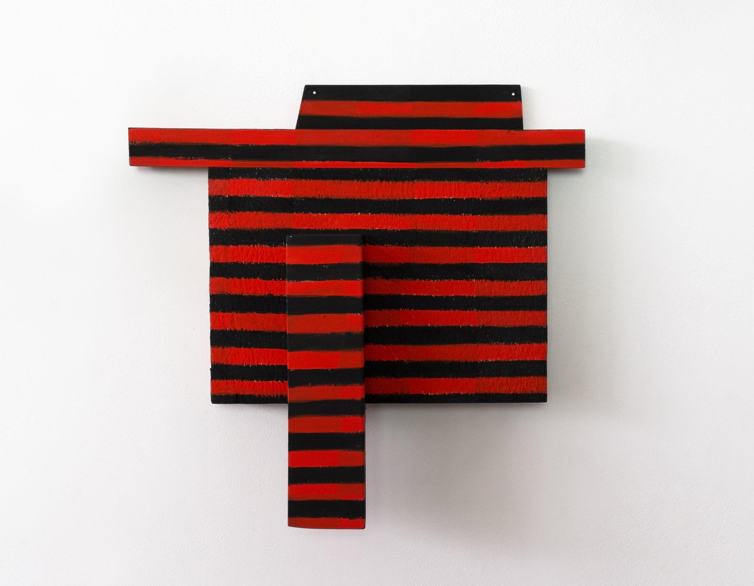 "Untitled (no. 521), 2014, wood, paint, nails, screws, 11 ¼ x 2 ½ x 11"""