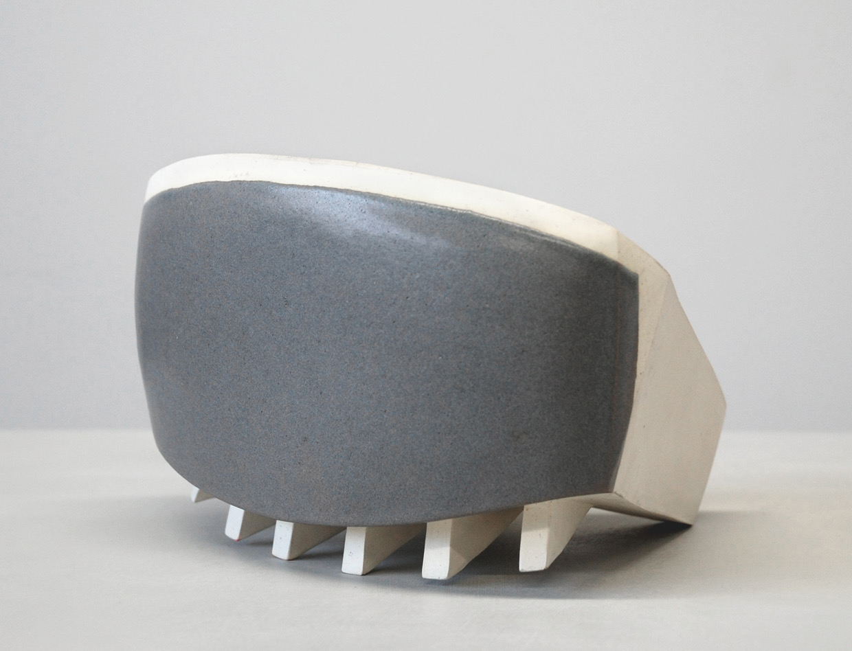 Untitled, 2010, earthenware, glaze, 5½ x 9¼ x 8½""