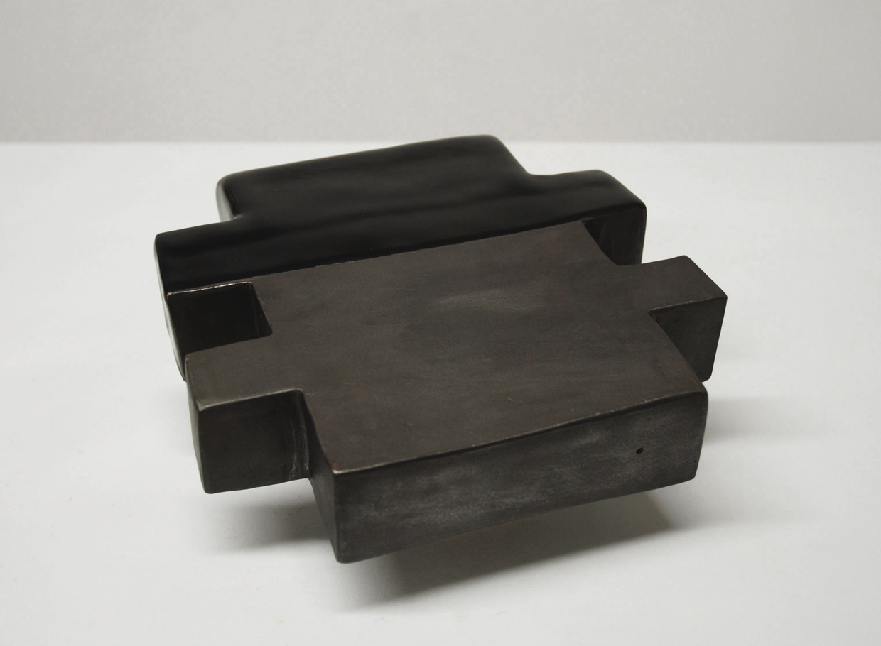 Untitled, 2010, ceramic, graphite, rubber, 8 x 8½ x 4¼""