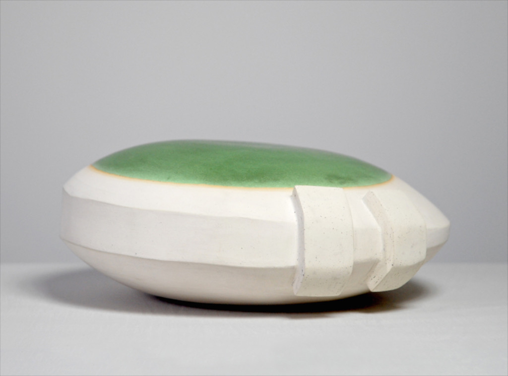 Untitled, 2010, ceramic, glaze, 5¼ x 10 x 10½""