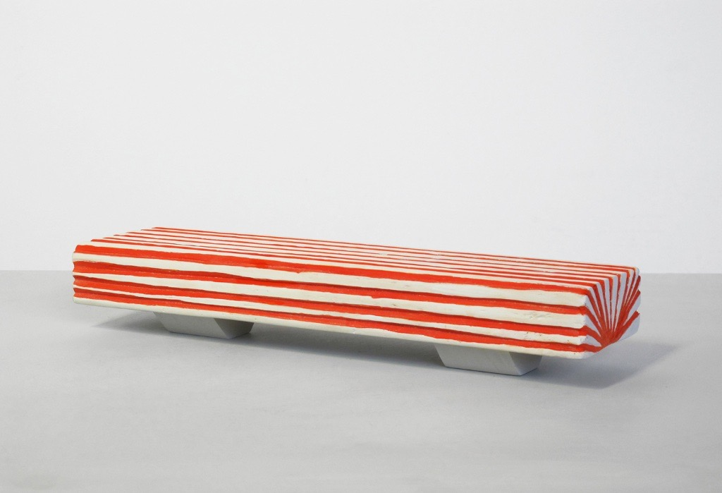 Untitled, 2011, wood, ink, paint, 13 x 3 ½ x 2 ½""