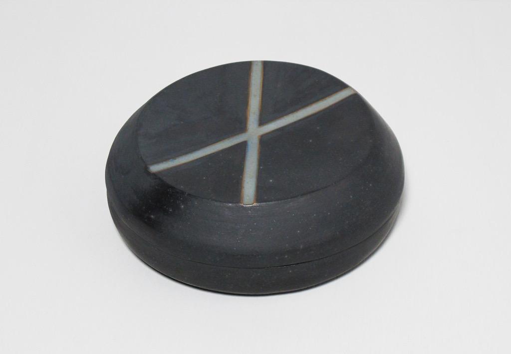 "Untitled, 2011, stoneware, 3 x 8 x 8"""