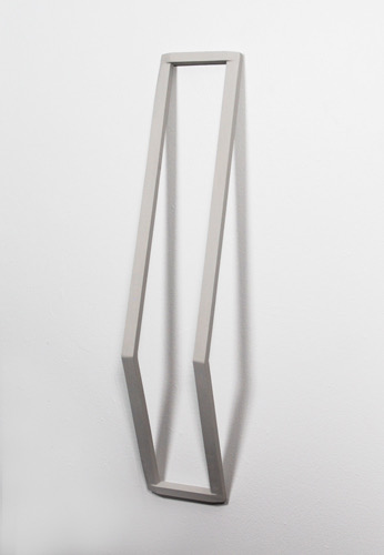 Untitled, 2011, wood, paint and nails, 34-¼ x 6-½ x 5-¼""