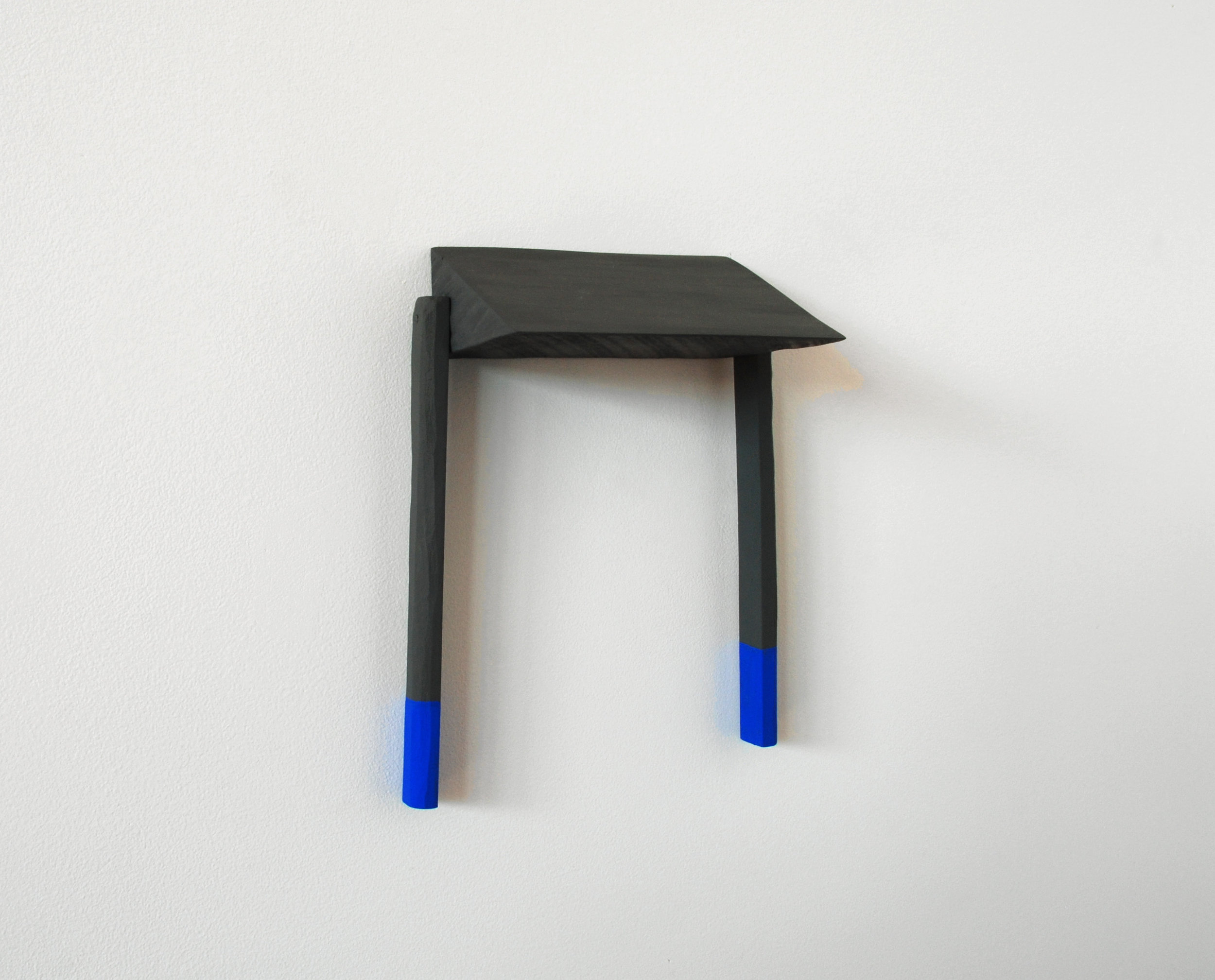 Untitled, 2012, wood, paint, nails, 7 x 3 ½ x 9 ¼""