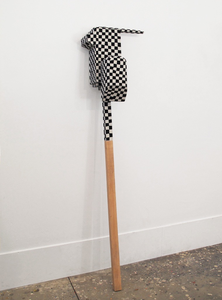 Untitled, 2012-2014, wood, paint, nails, 15 x 7½ x 62""