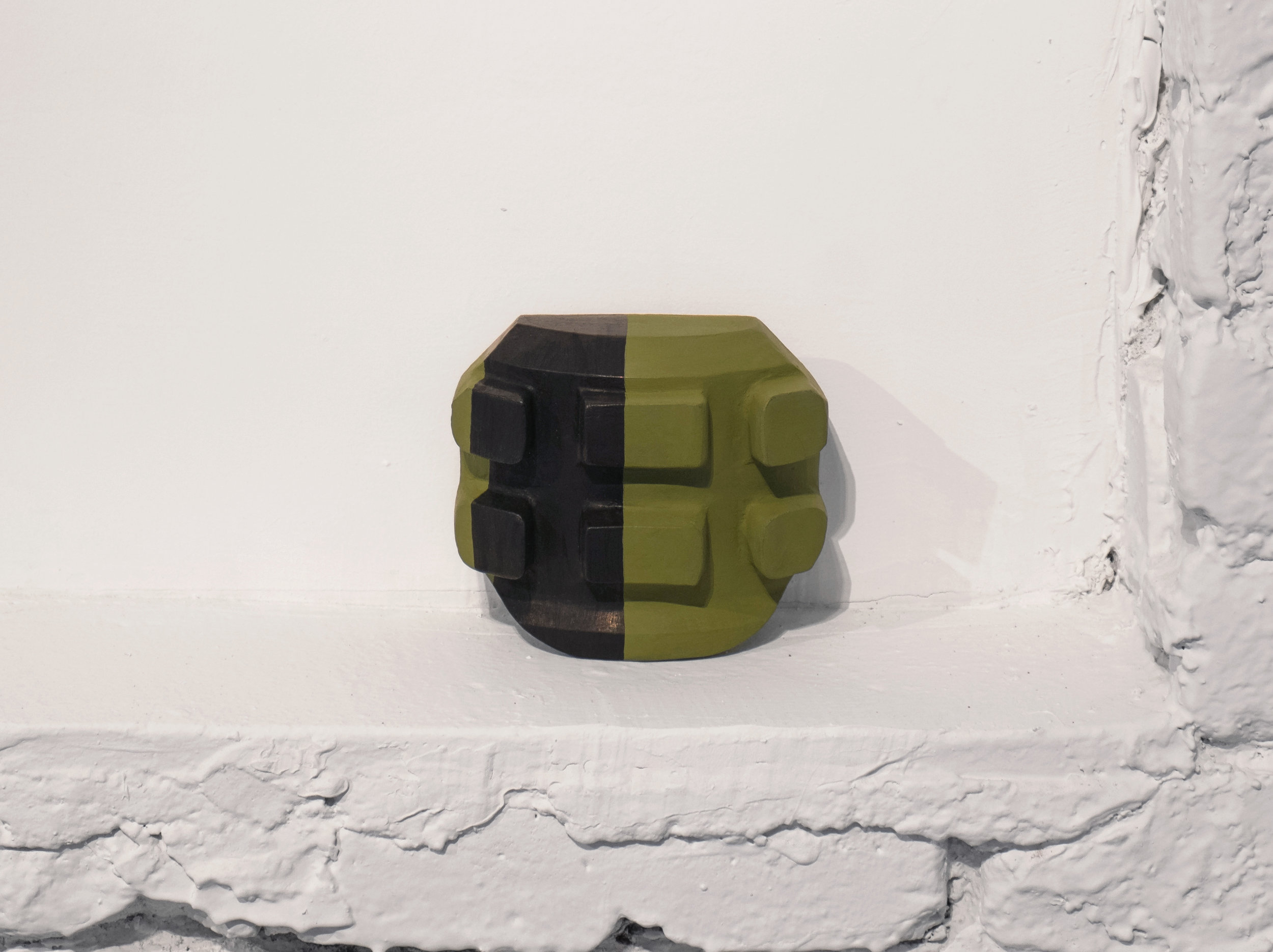 Untitled, 2012, plaster, paint, 4 ⅞ x 1 ¾ x 4 ¼""