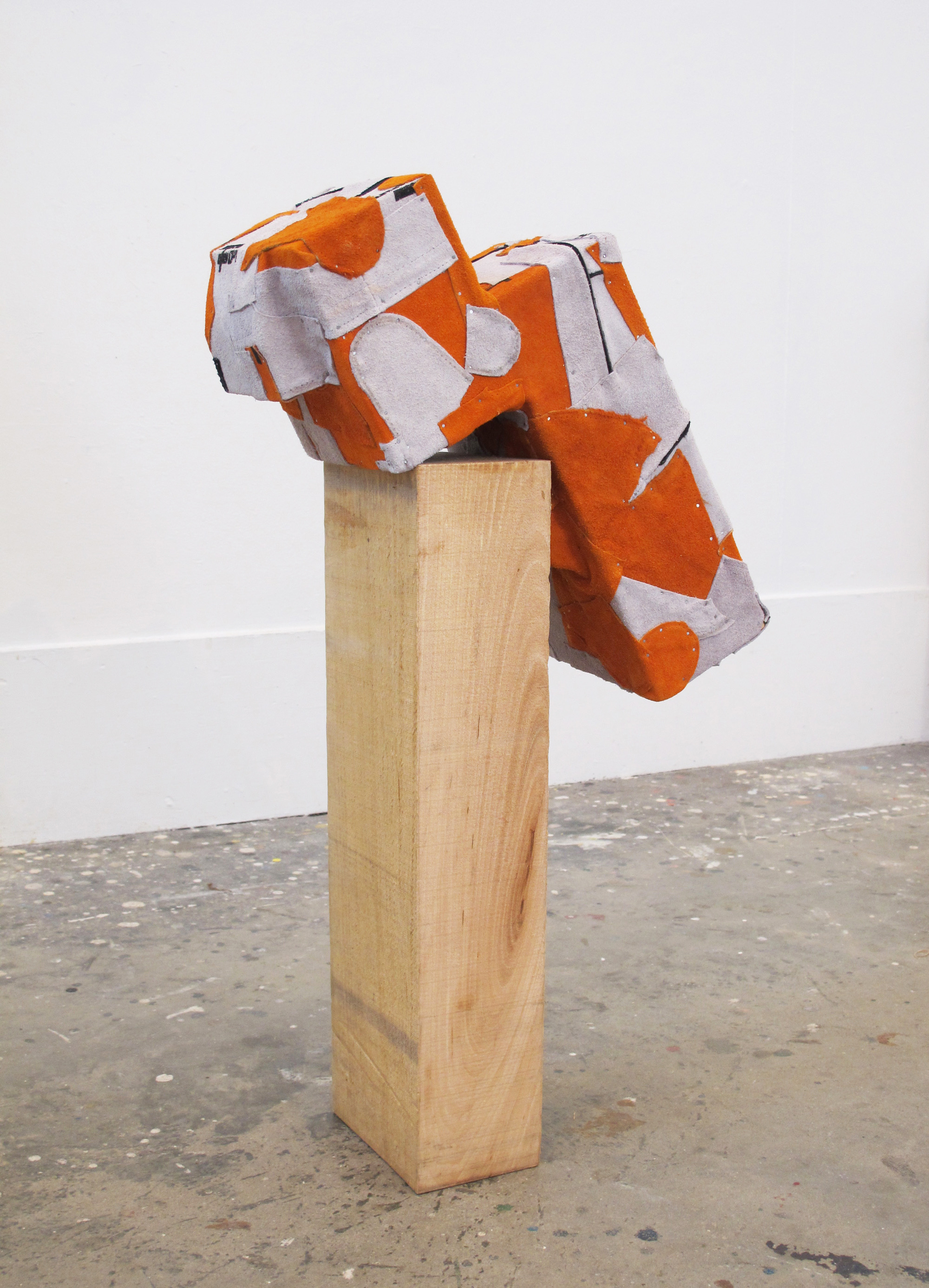Untitled, 2012, wood, nails, fabric, dimensions variable