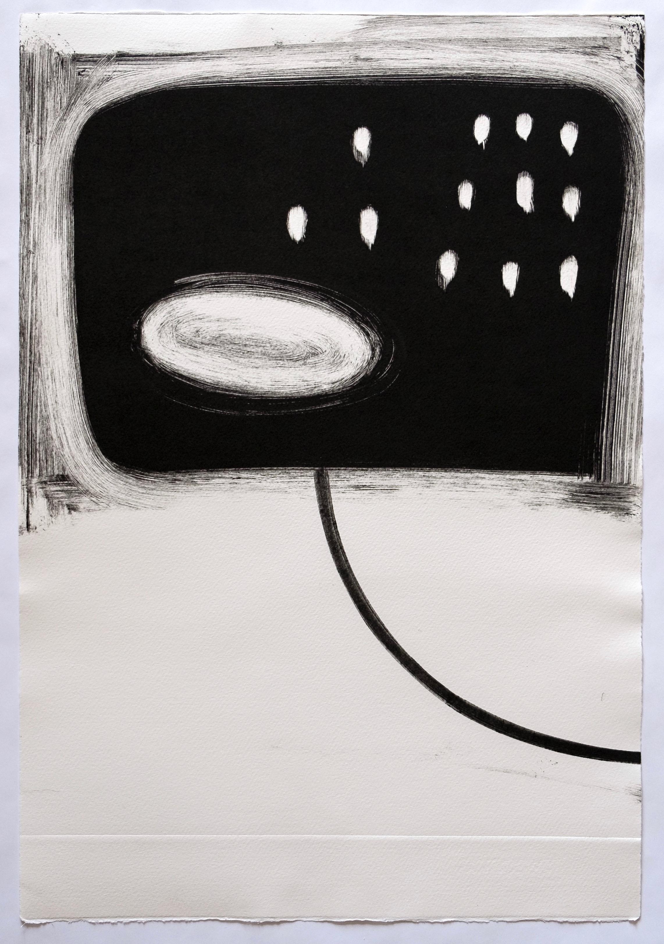 "Untitled, 2019, monotype, 21-3/4 x 14-3/4"""