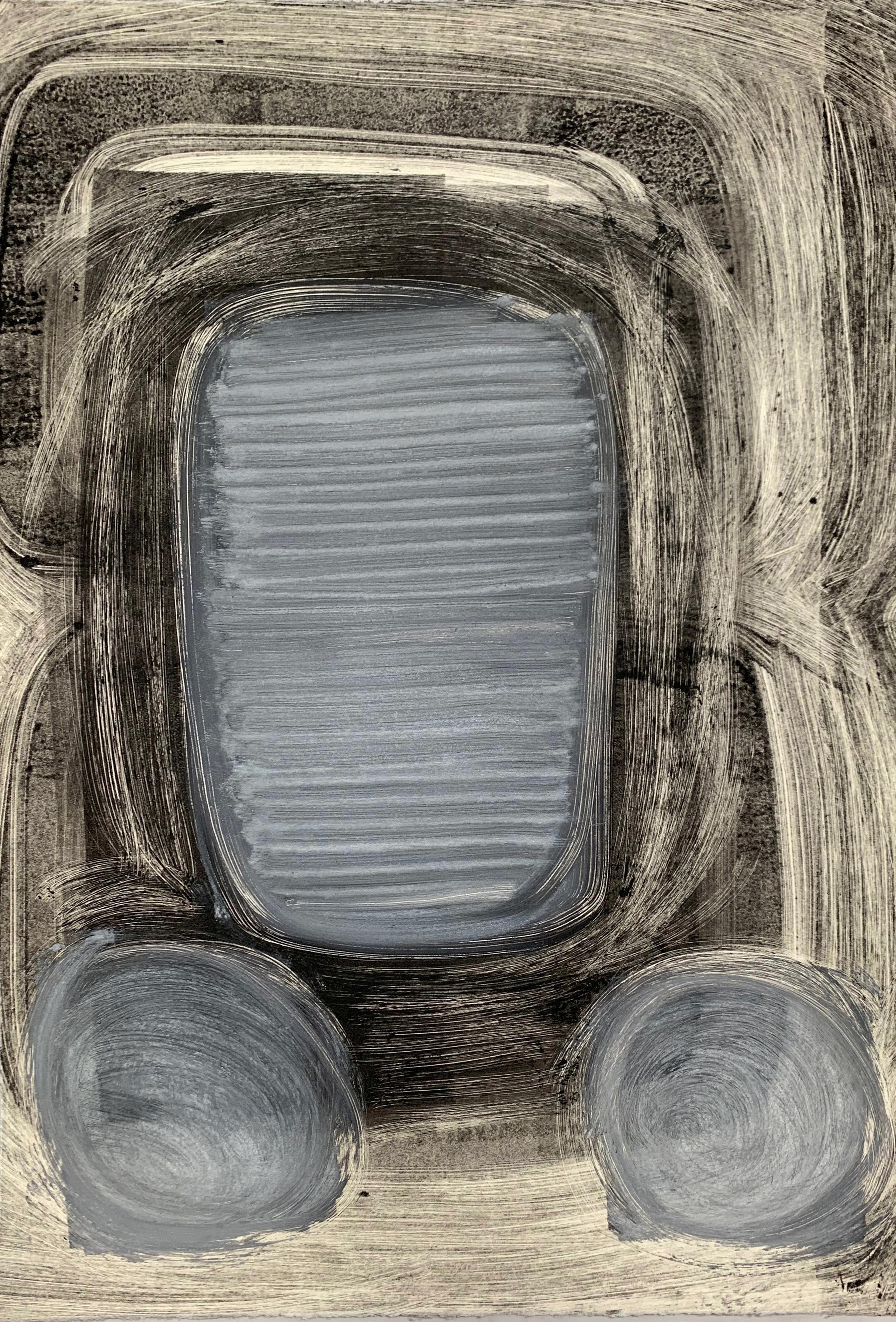 "Untitled, 2019, monotype, 22-1/4 x 15"""