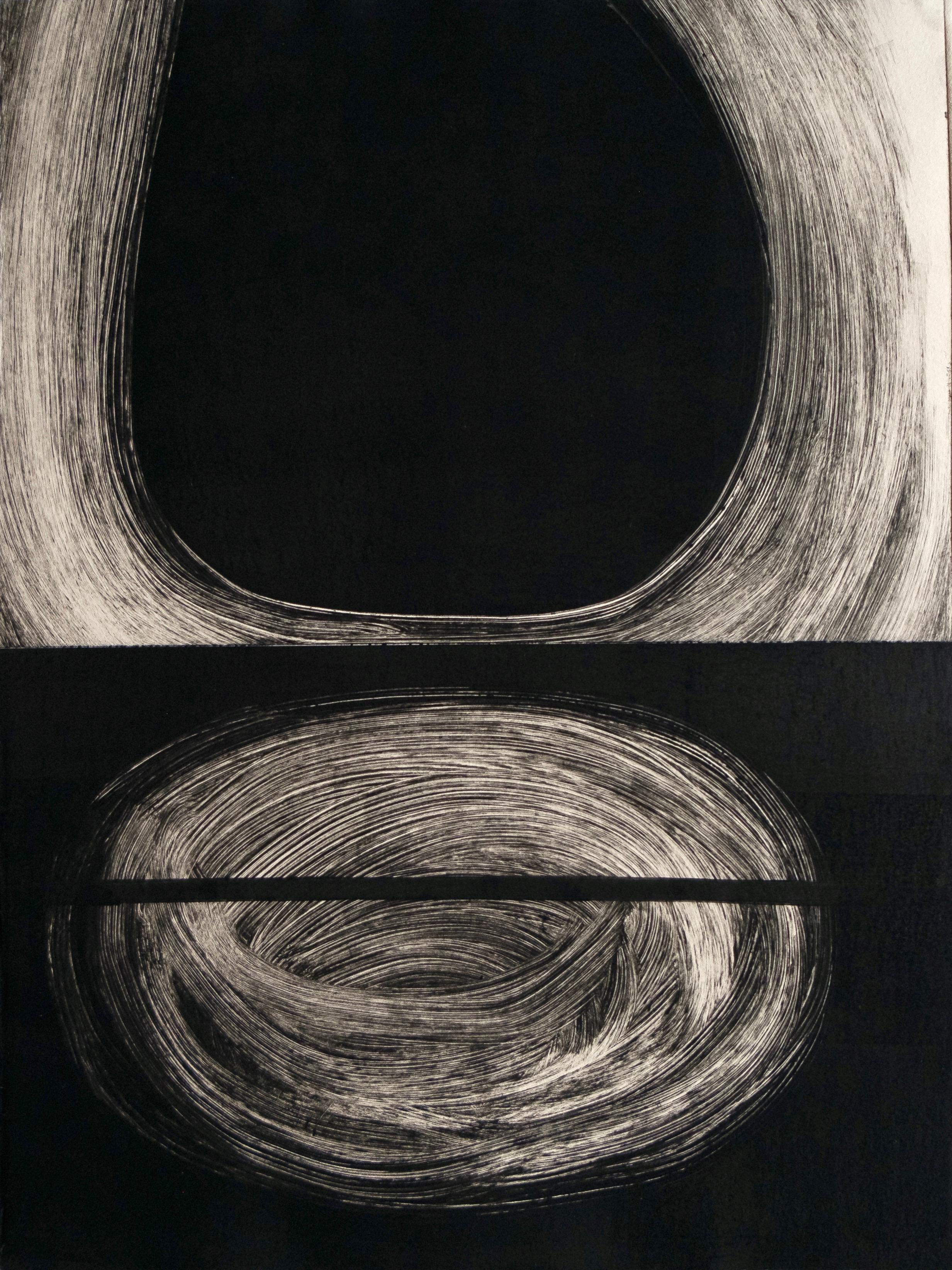 "Untitled, 2019, monotype, 14-3/4 x 11-1/4"""