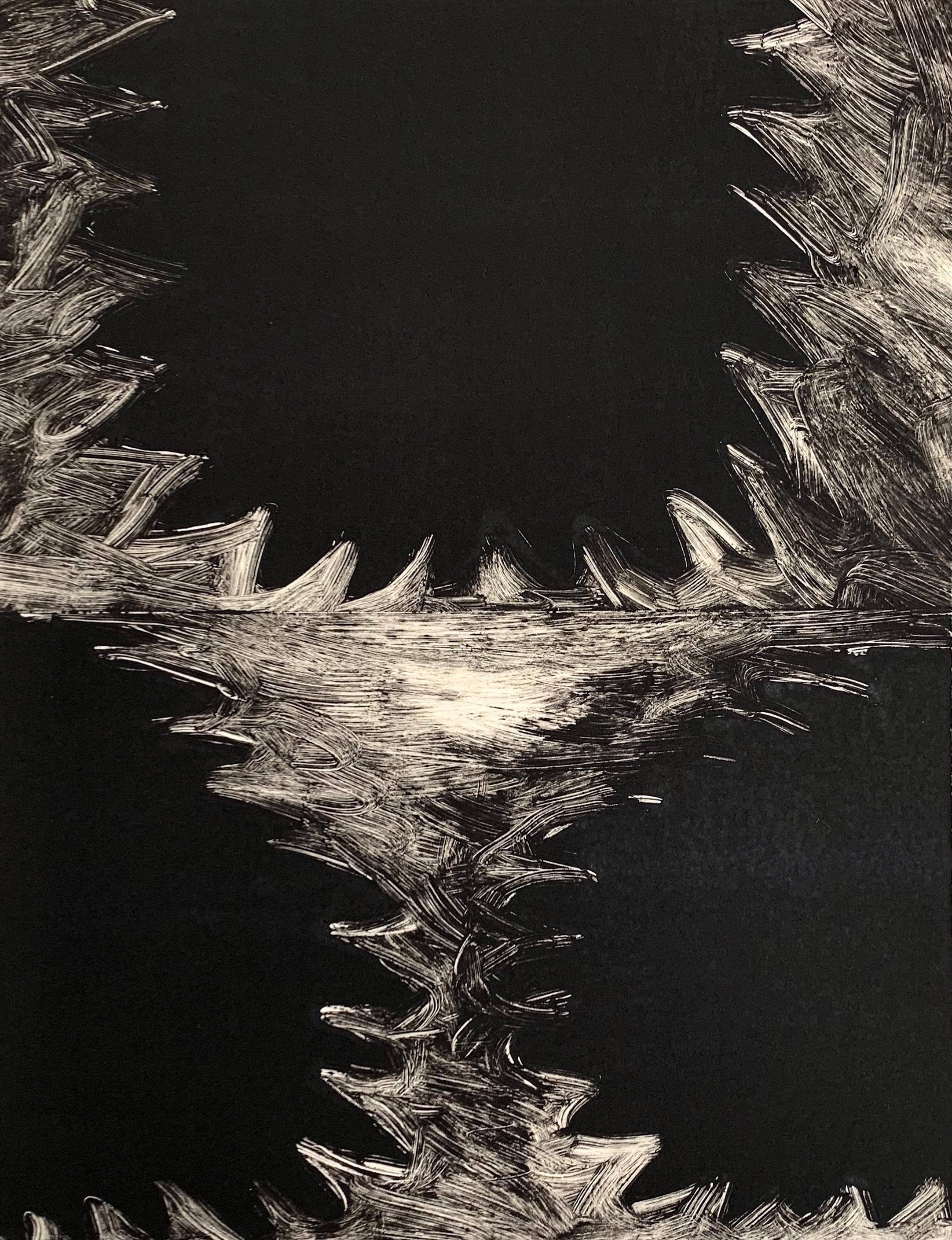 "Untitled, 2019, monotype, 14-1/2 x 11"""