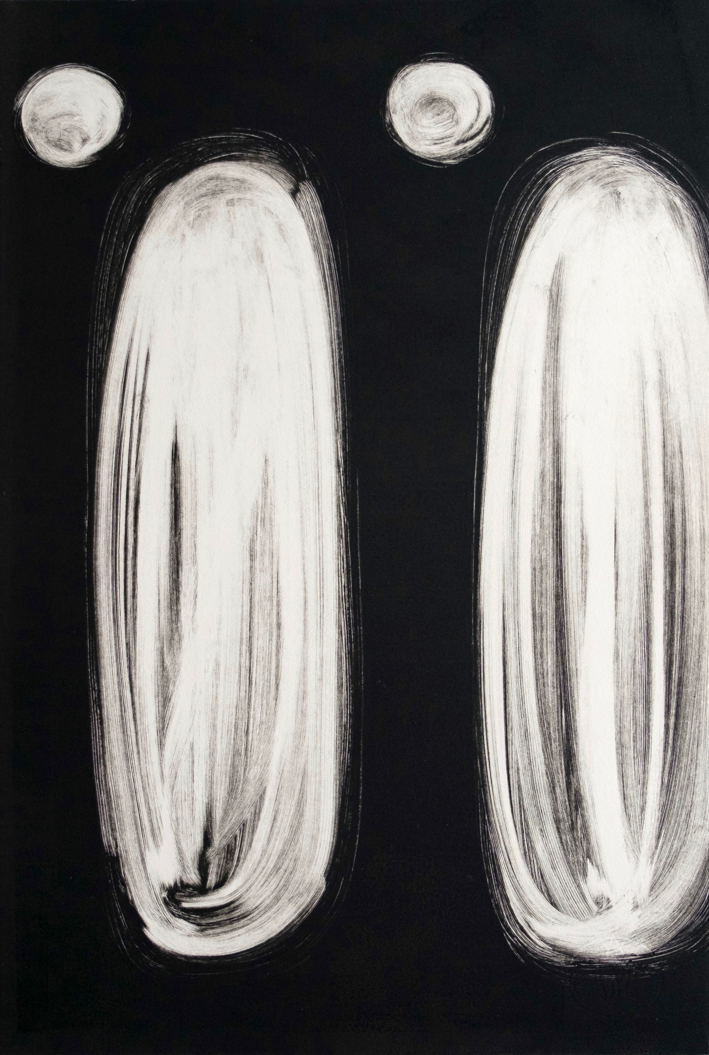 "Untitled, 2019, monotype, 22 x 14-1/2"""